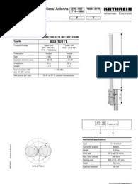 VVPol Omni, 870-960/1710-1880/1920-2170,360/360deg