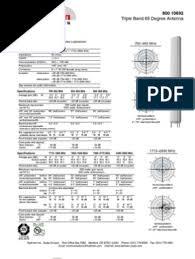 ANTENNA UNIT/X-POL, 1710-2200 MHZ, 65 DE